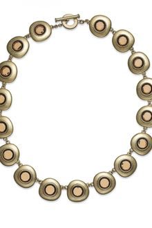 Lauren by Ralph Lauren Antique 14k Gold-Plated Smoky Topaz Cabochon Toggle Necklace - Lyst