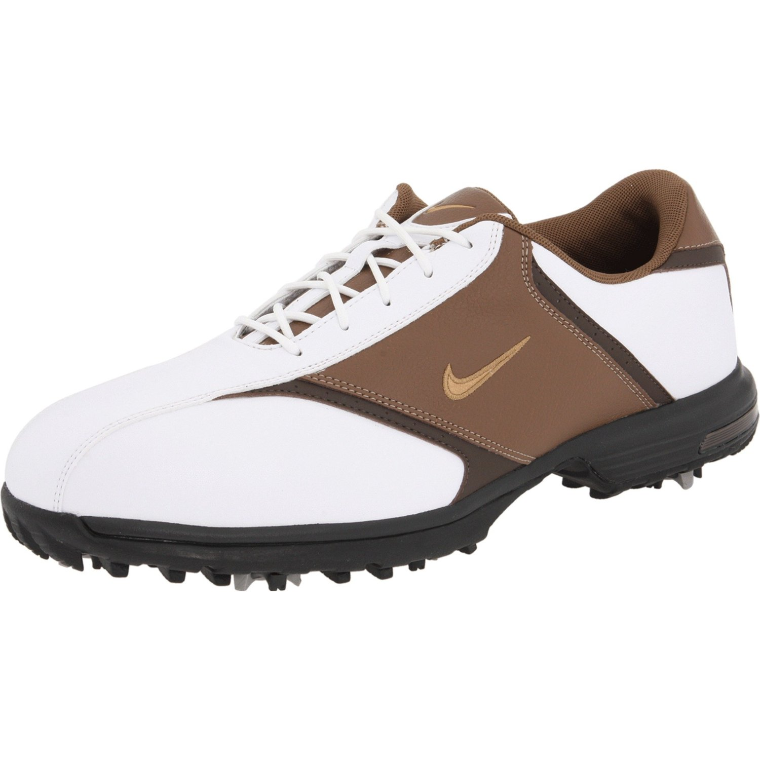 nike nike golf mens nike heritage golf shoe in brown for