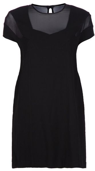 Pierre Balmain A Line Dress in Black - Lyst