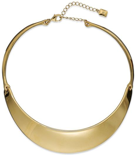 Ralph Lauren 14k Gold Plated Collar Necklace in Gold - Lyst