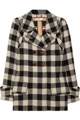 Sonia By Sonia Rykiel Doublebreasted Checked Woolblend Coat - Lyst