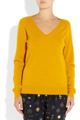 Stella Mccartney Wool and Cashmereblend Sweater in Yellow (saffron) - Lyst