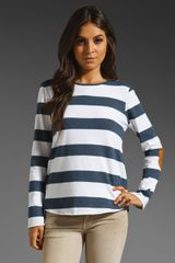 Textile Elizabeth And James Patched Adelson Striped Tee - Lyst