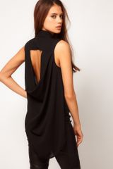 Tfnc Sleeveless Drape Open Back Shirt - Lyst