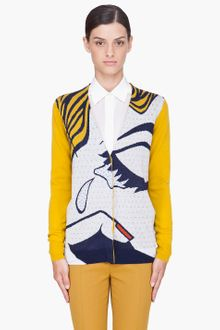 3.1 Phillip Lim Yellow Break Up Cardigan - Lyst