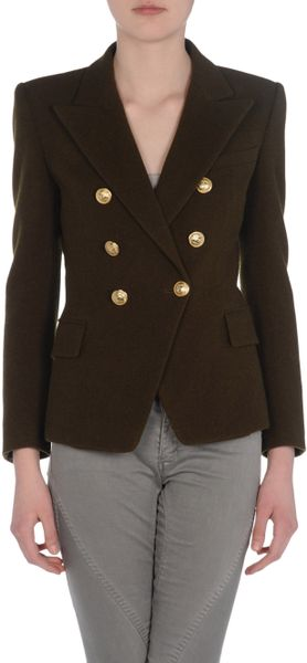 Balmain Blazer in Green - Lyst
