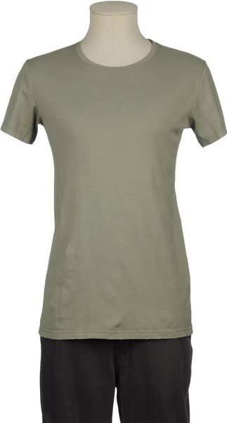 Balmain Short Sleeve Tshirt in Green for Men (grey) - Lyst