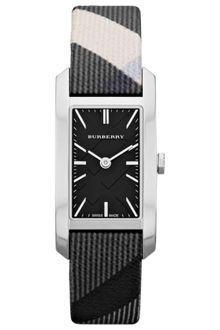 Burberry Womens Swiss Beat Check Fabric Strap 20mm - Lyst