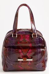 Jimmy Choo Justine Small Genuine Python Satchel - Lyst