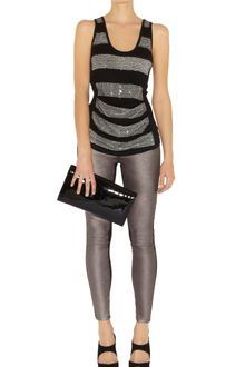 Karen Millen Graphic Sequin Stripe Vest - Lyst
