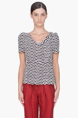 Marc By Marc Jacobs Silk Licorice Striped Blouse - Lyst