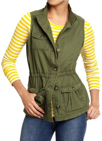Old Navy Twill Cargo Vests - Lyst
