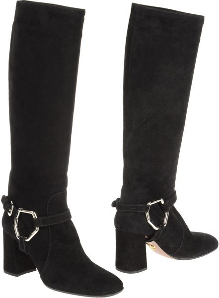 Prada Highheeled Boots in Black (brown) - Lyst