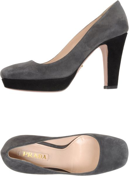 Prada Platform Pumps in Gray (brown) - Lyst