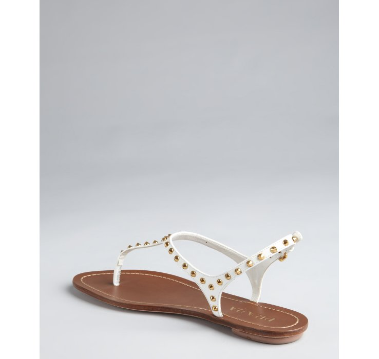 Studded sandals - White Prada Browse Online Outlet Wiki DawGI