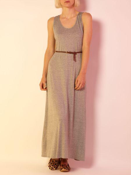 Maxi Dress in Gray Grey