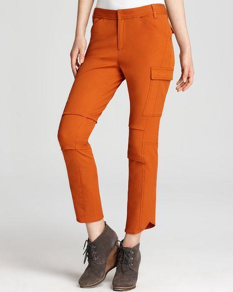Excellent Women SoftNStretch Cargo Pants Long Pants Violetorangeblack Cargo