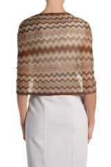 Missoni Stole in Brown - Lyst