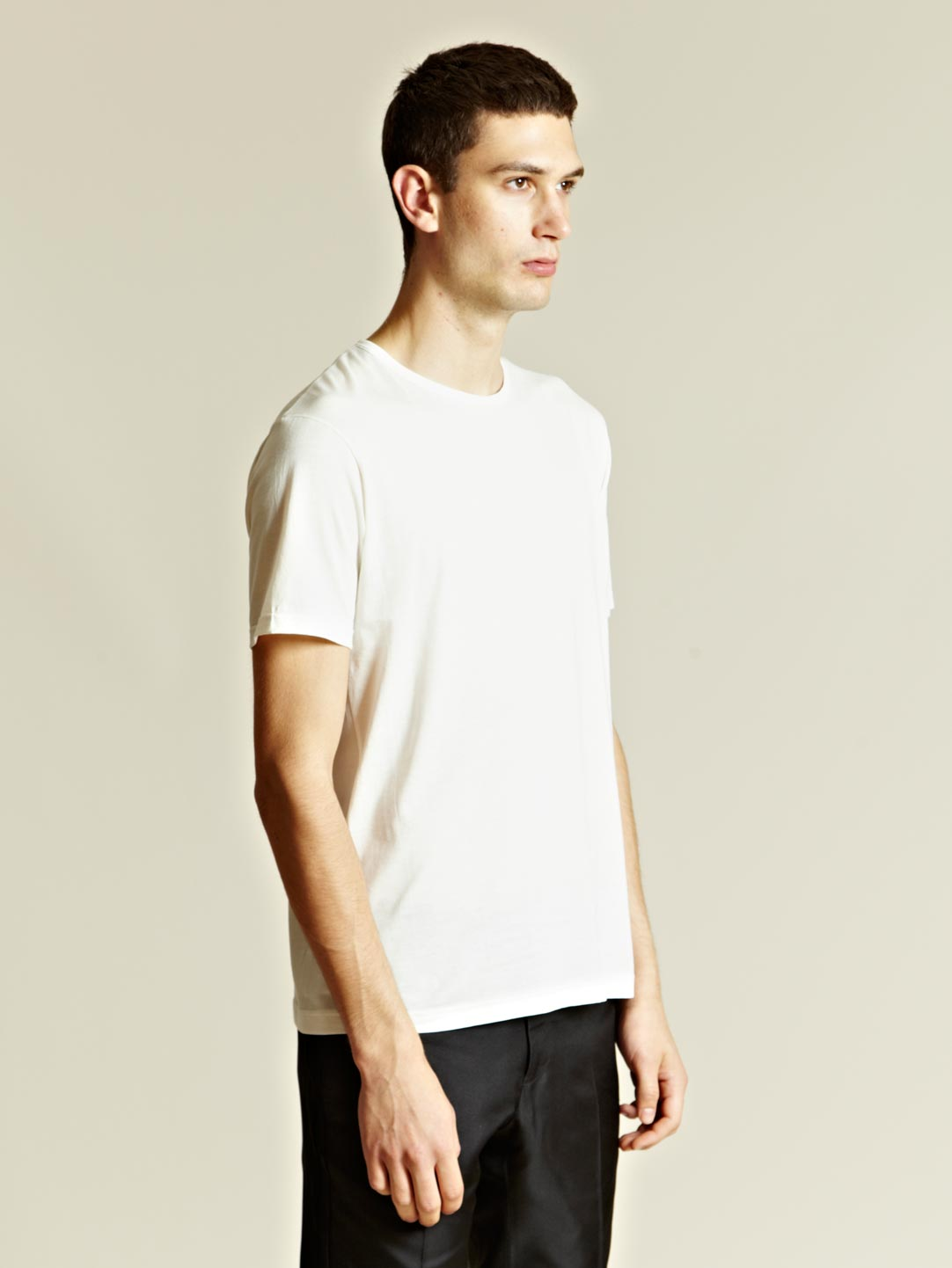 sunspel sunspel mens crew neck t shirt t in white for men