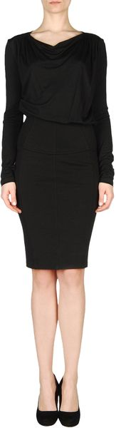 Versace Short Dress in Black - Lyst