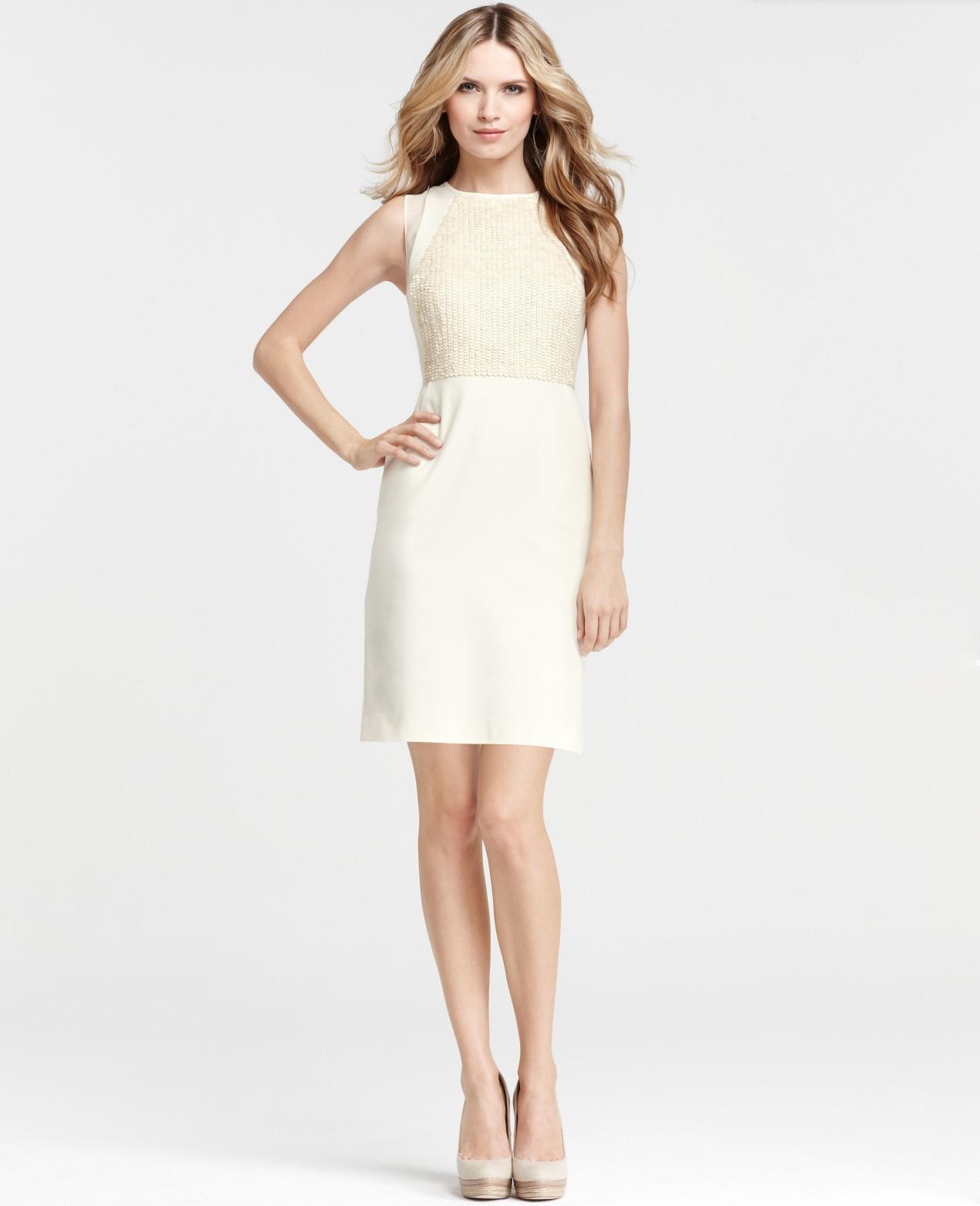 Lyst - Ann Taylor Confetti Dress in Natural