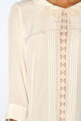 Free People The Geek Rock Top in Ivory in Beige (ivory) - Lyst