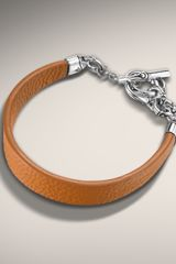 John Hardy Caramel Leather Link Station Bracelet - Lyst