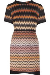 Missoni Zigzag Crochetknit Woolblend Dress - Lyst