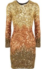 Rachel Gilbert Shivaun Dégradé Metallic Sequined Dress - Lyst
