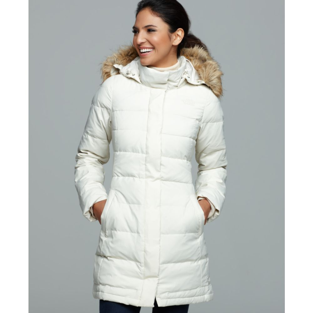 Lyst - The North Face Yume Faux Fur Hooded Down Puffer in White bb1fb524b958
