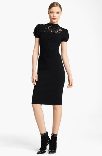 Valentino Textured Knit Dress - Lyst