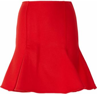 Versace Flared Wool Skirt - Lyst