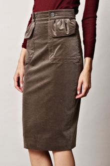 Burberry Prorsum Corduroy Pencil Skirt - Lyst