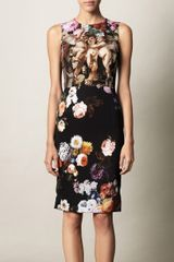 Dolce & Gabbana Cherub and Floralprint Dress - Lyst