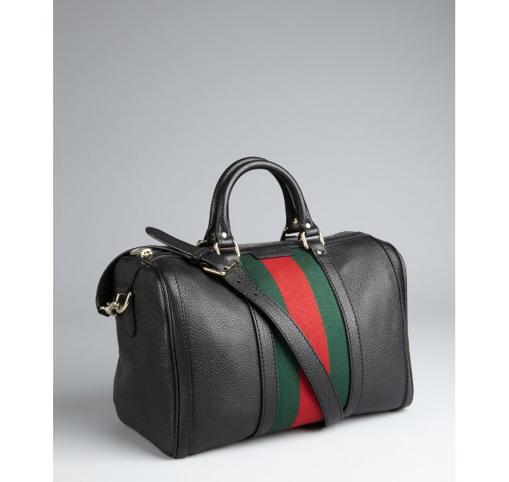 Womens lined leather gloves - Gucci Leather Vintage Web Boston Bag In Black Lyst