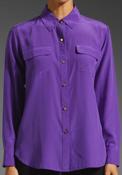 Purple Silk Blouse 14