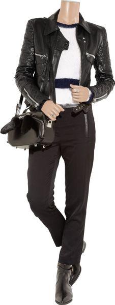 JW Anderson Leather Hearts Biker Jacket in Black for Men