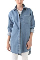 Maison Martin Margiela Oversized Denim Shirt - Lyst