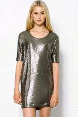 Markus Lupfer Sequin Dress - Lyst