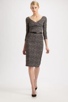 Michael Kors Herringbone Print Dress - Lyst