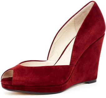 Michael Kors Korsvail Suede Wedge Pump - Lyst