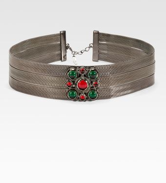 Oscar de la Renta Jeweled Chain Belt - Lyst