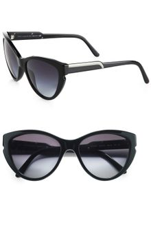 Stella McCartney Notched Plastic Catseye Sunglasses - Lyst