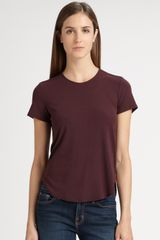 Theory Medea Rib Top in Purple (auburnsmoke) - Lyst