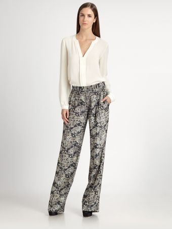 Theory Emmanuel Silk Pants - Lyst