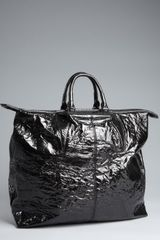 Alexander Wang Wrinkled Leather Alpha Shopper Tote in Black - Lyst