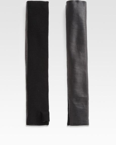 Alexander Wang Long Fingerless Gloves in Black - Lyst