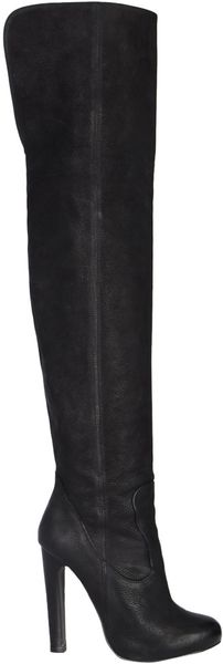 Allsaints Hero Thigh Boot in Black (rustic jet) - Lyst