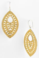 Anna Beck Lombok Keyhole Leaf Earrings - Lyst