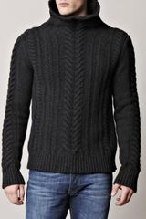 Balmain Cableknit Sweater in Gray for Men (grey) - Lyst